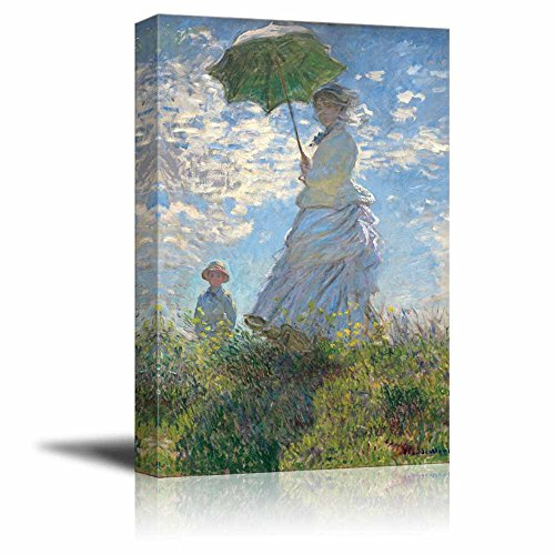 Claude Monet Woman with a Parasol Madame Monet and Her Son Impressionist Art