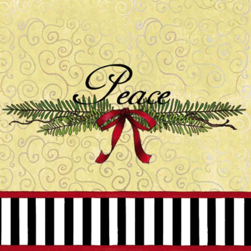 Обед Размер бумажной салфеткой, Мирное Рождество