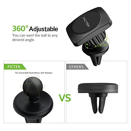 Pictek air vent magnetic cell phone car mount holder 4