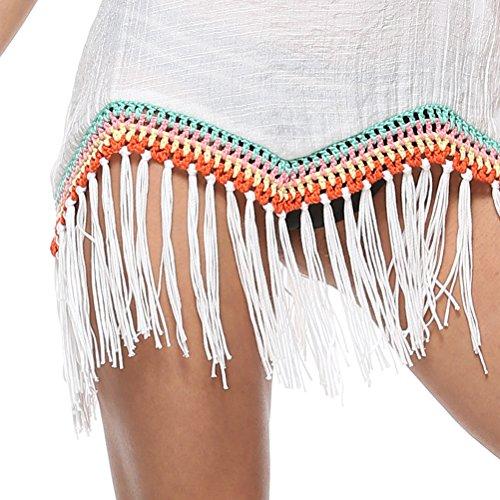Ladies Womens Exquisite Beach Bikini Swimsuit Zhuhaitf Cover for Ups White Swimwear Dress Design Vacation 81qwzaWF