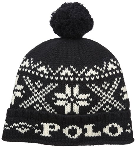 ns Wool Snowflake Winter Hat Black O/S ()