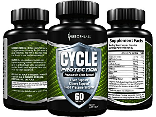 Cycle Support Supplement - Liver Cleanse, Estrogen Blocker, Organ Support | Premium On Cycle PCT Support Formula | With Zinc as Natural Aromatase Inhibitor & Testosterone Booster for Men | 60 Capsules (Best Liver Protection On Cycle)