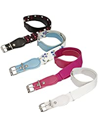 BMC Girls 4pc Assorted Color Adjustable Elastic Band With Leather Loop Belt Set