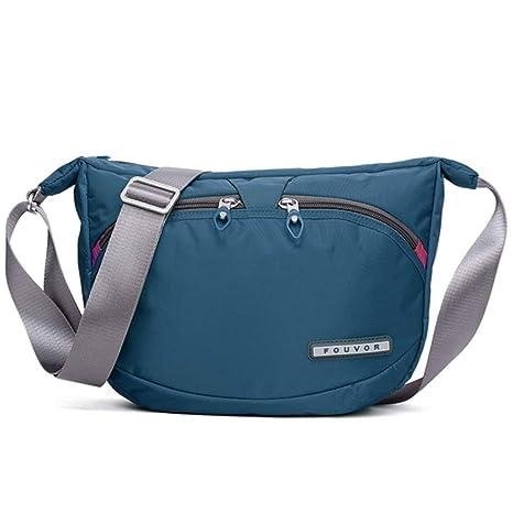 75cc00491359 Fouvor Women's Crossbody Hobo Bag Nylon Waterproof Shoulder Bag (258709  Blue)