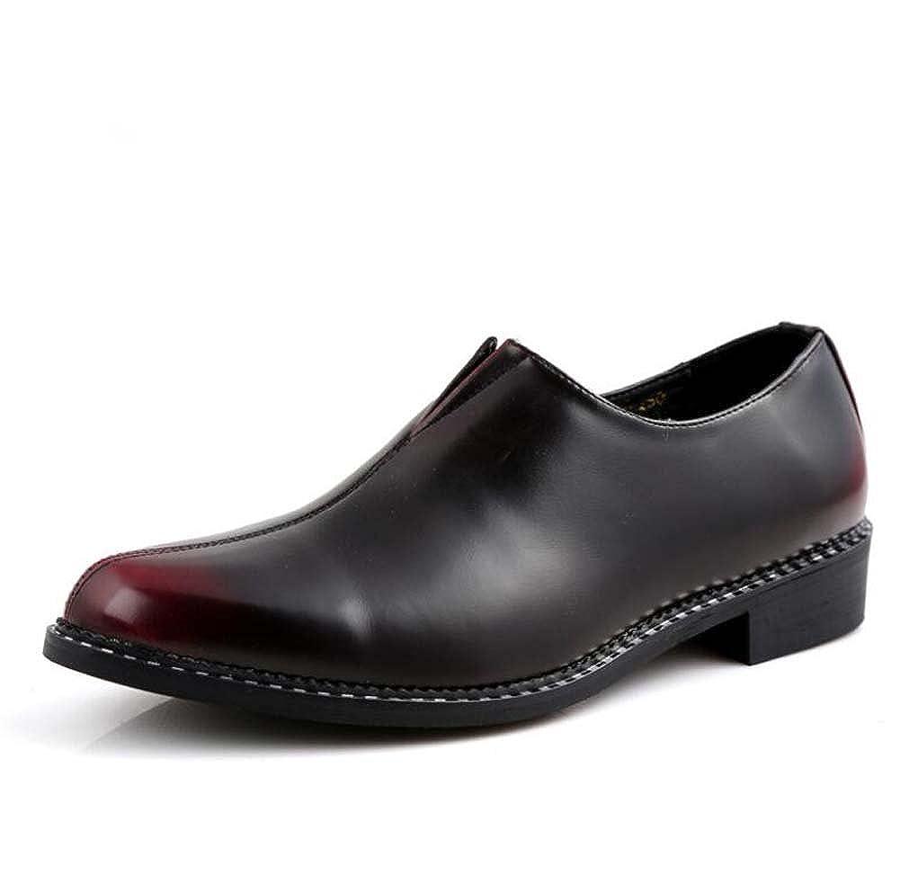 Rouge 40 EU MYI Hommes D'affaires Chaussures Décontractées Version coréenne de l'ensemble des Pieds Couleur Chaussures Confortable Lumière Noir gris Rouge Taille 38-43
