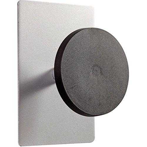 Alba PMS1MAG 1 Round Peg Magnetic Hook44; Silver & Black by Alba (Image #1)