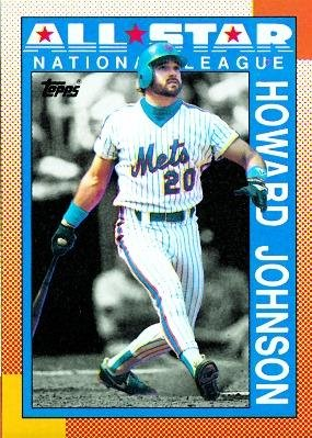 Amazoncom 1990 Topps 399 Howard Johnson New York Mets