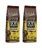 Cafe 1820 Molido - Costa Rica Gourmet Ground Premium Coffee - 35.2 oz (1000 gr) 2 Pack
