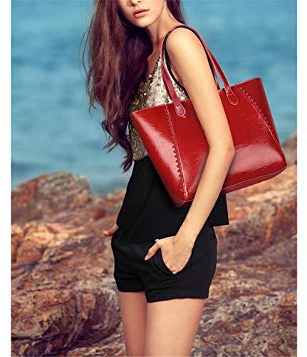 Size Shopping Gray Casual Slung Handbag Bag Large Female Soft Leather Shoulder gCfYwY