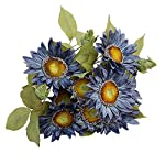 JAROWN-13-Heads-Silk-Flowers-Artificial-Sunflowers-European-Retro-Bouquets-for-Home-Wedding-Party-Floristry-DecorationBlue