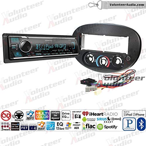 (Volunteer Audio Kenwood KMM-BT325U Single Din Radio Install Kit with Bluetooth, Sirius XM Ready, AUX/USB Fits 1997-2003 Ford Escort, 1997-1999 Mercury Tracer )