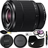 Sony FE 28-70mm f/3.5-5.6 OSS Lens International Version (No Warranty) (White Box) Bundle 9PC Accessory Kit Includes Manufacturer Accessories + 3PC Filter Kit (UV-CPL-FLD) + Dust Blower + Lens Pen + Microfiber Cleaning Cloth