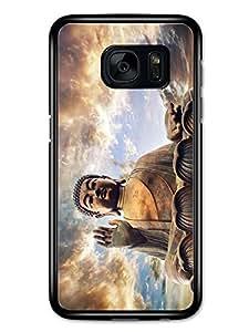Buddha Praying With Cloudy Sky Tibet carcasa de Samsung Galaxy S7