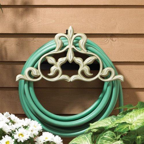 Whitehall Products Fleur-De-Lis Hose Holder, French Bronze