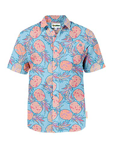 Tipsy Elves Mens Summer Hawaiian Button Down Shirts - Short Sleeve Aloha Shirt Vacation Clothing