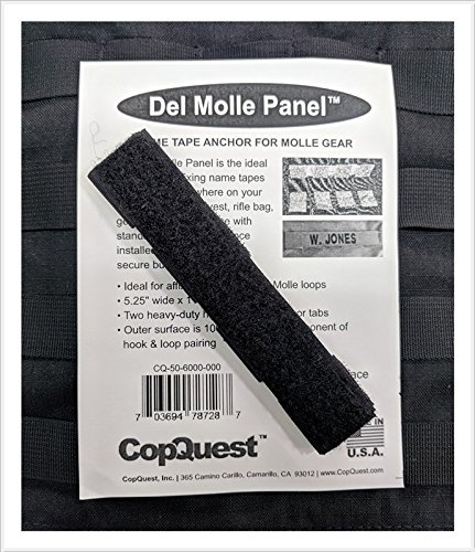 Del Molle Panel for Name Tapes - 1 inch x 5.25 inches - Black
