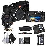 Leica M10 Digital Rangefinder Camera (Black), and Leica Elmar-M 24mm f/3.8 ASPH. Lens, With Sony 128GB Memory Card Bundle