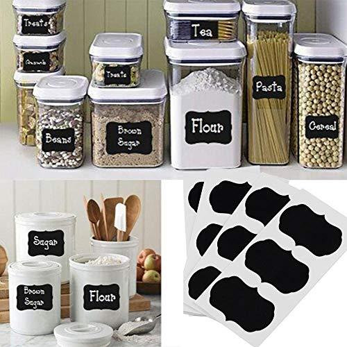 36 Pcs/set Blackboard Sticker Craft Kitchen Jars Organizer Labels Chalkboard Chalk Board Sticker 5cm x 3.5cm Black Board