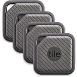 Tile Sport - Key Finder. Phone Finder. Anything Finder (Graphite) - 4-pack