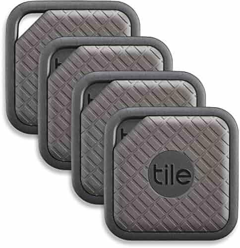 Tile (EC-09004) Sport - Key Finder. Phone Finder. Anything Finder (Graphite) - 4 Pack