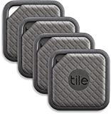 Tile (EC-09004) Sport - Key Finder. Phone Finder. Anything Finder (Graphite) - 4 Pack