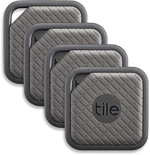 Tile (EC-09004) Sport - Key Finder. Phone Finder. Anything Finder (Graphite) - 4 Pack]()