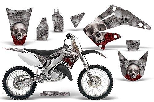2002-2014 Honda CR 125/250 AMRRACING ATV Graphics Decal Kit-Bone Collector-Silver