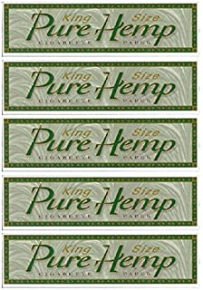 6 Pure Hemp 1 1/4 Tree Free Eco 100% Hemp Natural Gum Cigarette