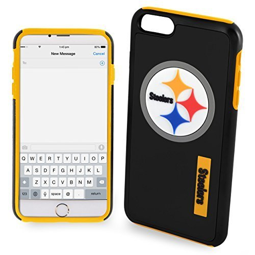 Forever Collectibles Phone Case for Apple iPhone 6/6s Plus - Retail Packaging - Pittsburgh Steelers