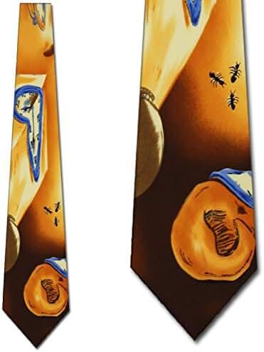 Warping Time Tie Men's Necktie Dali's original work of art by Three Rooker