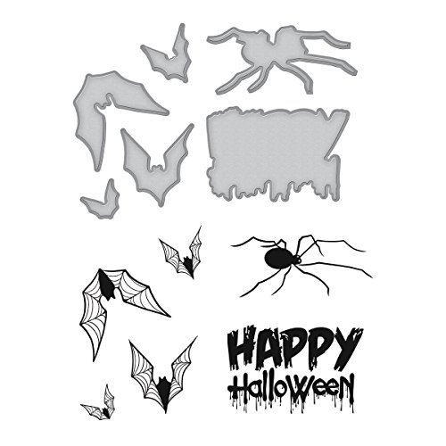 Spellbinders Happy Halloween by Stephanie Low Stamp and - Spellbinders Happy Holidays