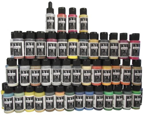 Badger Air-Brush Company Minitaire Color Paint Set with Color Coat/Paint Retarder