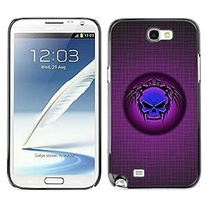 "For Samsung Note 2 N7100 , S-type Cráneo tribal azul"" - Arte & diseño plástico duro Fundas Cover Cubre Hard Case Cover"