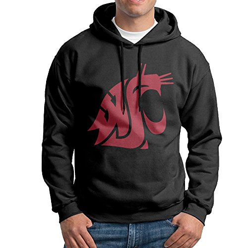 Cougar Console (FUOALF Mens Pullover Washington State University Cougars Hoodie Sweatshirts Black XXL)