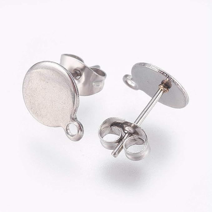 800pcs//Box Earrings Making Supplies Jewelry Starter Kit Ear Stud Post Pads