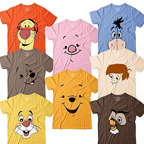 Pooh-And-Friends Owl-Christopher-Eeyore-Kanga-Tiger-Rabbit-Bear-Piglet Halloween Costume Matching Group Team Family Customized Handmade Hoodie/Sweater/Long Sleeve/Tank Top/Premium T-shirt]()