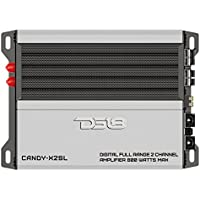 DS18 CANDY-X2SL Silver 800 Watts Max Digital Full Range 2 Channel Class D Amplifier