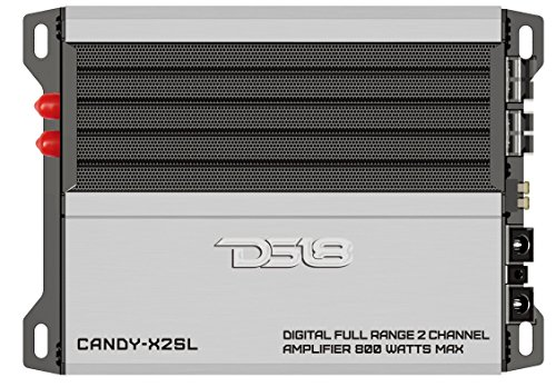 DS18 CANDY-X2SL Silver 800 Watts Max Digital Full Range 2 Channel Class D Amplifier by DS18