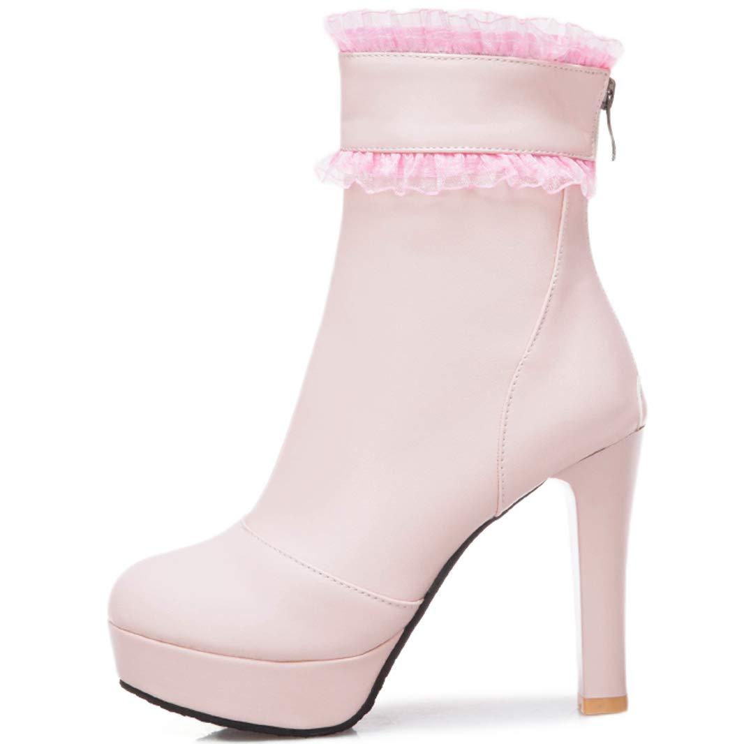 Mavirs Mavirs Mavirs Womens Marace Block Heel Ankle-high 11 cm Boots B07GL9R6B5 Boots a59d48