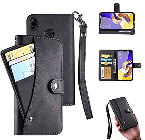 low priced fc8d1 513df Huawei P20 lite Wallet Case, Huawei P20 lite Case, PU Flip Leatther 6 Cards  Slot [Removable Card Holder ] / Cash Pocke Cover Wrist Strap/Oid Edge ...