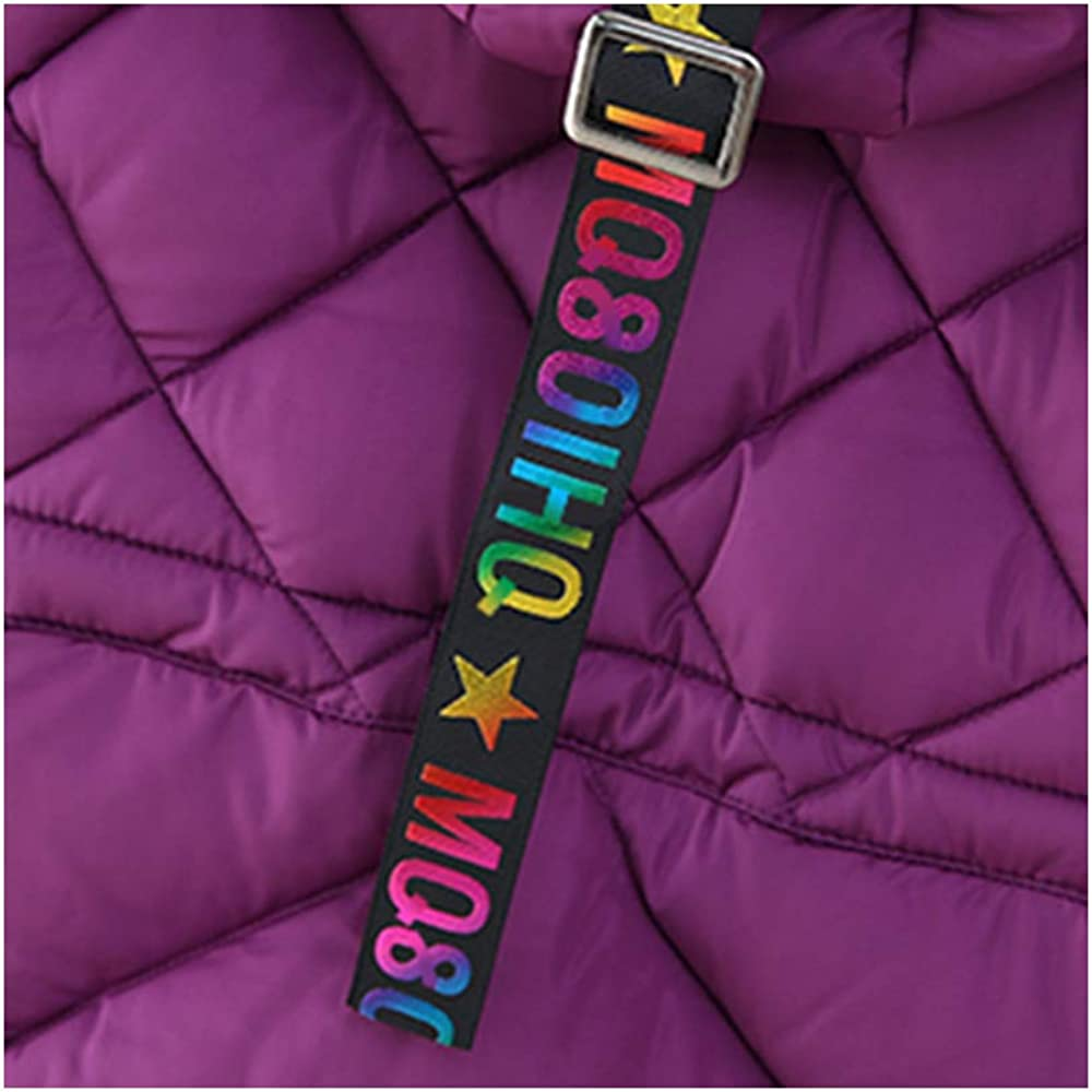 OCHENTA Girls' Puffer Down Coat Winter Jacket with Faux Fur Trim Hood: Clothing