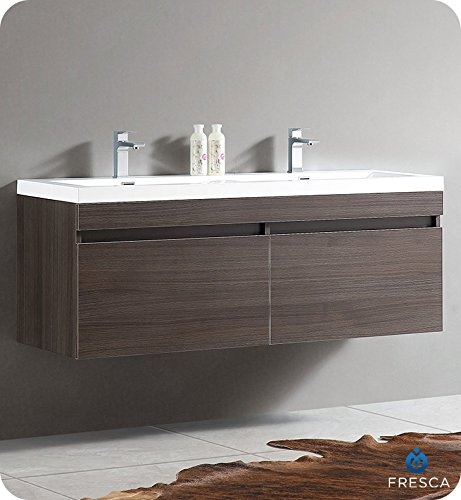Buy fresca largo grey oak double bathroom vanity