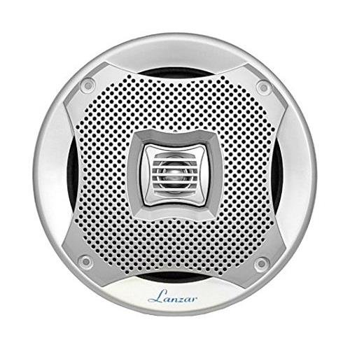 Lanzar 6x9 Inch Marine Speakers - 2 Way Water Resistant Audio Stereo Sound System with 500 Watt Power, Attachable Grills and Resin Treatment for Indoor and Outdoor Use - 1 Pair - AQ69CXS (Silver)