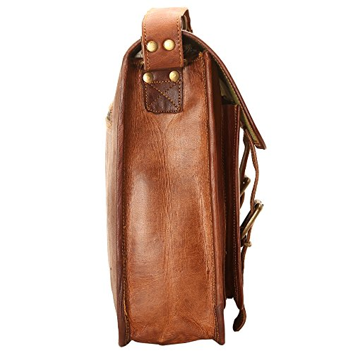 Ayemann Crafts  Artico bag16, Borsa Messenger  Marrone Brown