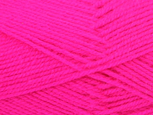 King Cole Big Value Neon Knitting Yarn DK 1317 Hot Pink - per 100 gram ball