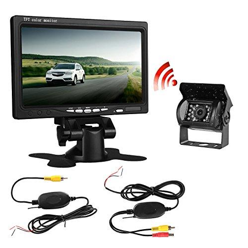 dohonesbest wireless backup camera and monitor kit for car vehicle pickup suv truck. Black Bedroom Furniture Sets. Home Design Ideas