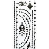 Fashion design Watertight tattoo sticker black jewelry necklaces, bracelets