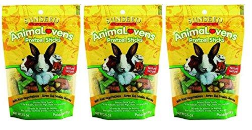 Vitakraft Rat - Sunseed Sunthing Special Animal Lovens Natural Treat Pretzel Sticks - Pack of 3, 3.5 Oz. Ea.