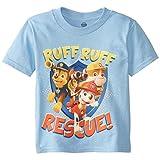 Paw Patrol  Toddler Boys' Short Sleeve T-Shirt, Light Blue, 3T
