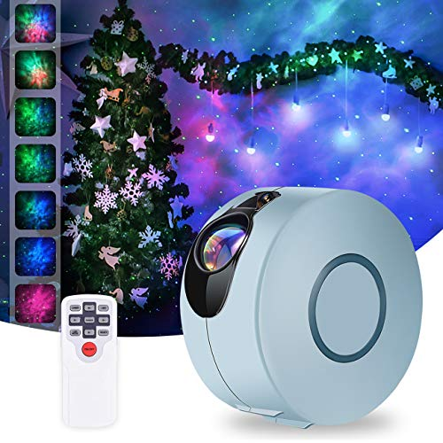 Star Projector, Galaxy Projector with LED Nebula Cloud,Star Light Projector with Remote Control for Kids Adults Bedroom/Home Theatre/Party/Game Rooms and Night Light Ambience-Sky Blue